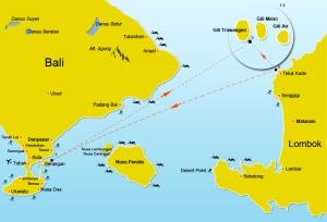 Map Bali Gili