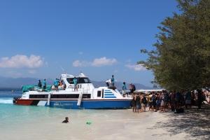 The boat to Padang Bai