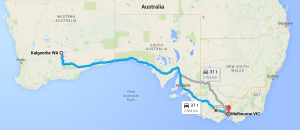 Rute Australia på tvers