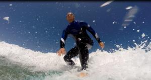 Surfing Ryes beach